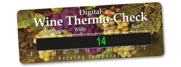 Digital wine thermo card