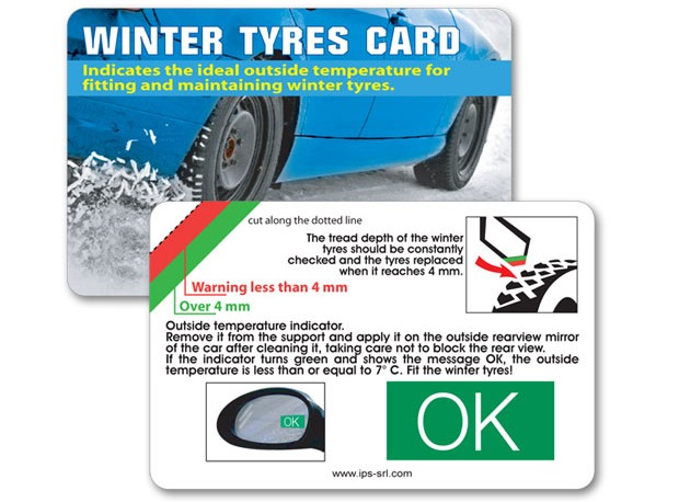 winter tyres card