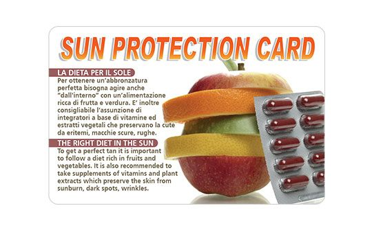 Sun protection card